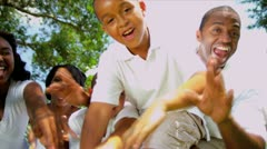 African American Family Advertising Tourism Stock Footage
