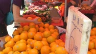 Fresh orange for sale, street market, Hong Kong, China Stock Footage