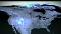International networking with an earth image courtesy of Nasa.org Stock Footage