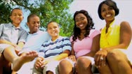 Portrait Smiling Young Ethnic Family Stock Footage