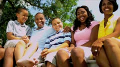 African American Family Tourism Advertisement Stock Footage