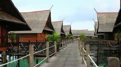 Kapalai island resort Stock Footage