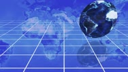 Diagram and rotating earth with the courtesy of nasa.org Stock Footage