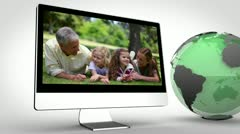 Multimedia devices with an Earth image courtesy of Nasa.org Stock Footage