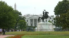 White House & Jackson Stock Footage