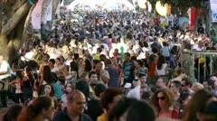 Israel street people 2 Stock Footage