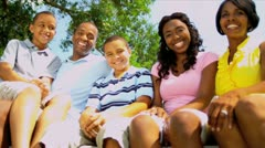 Commercial Tourism Welcome Young Ethnic Family Stock Footage
