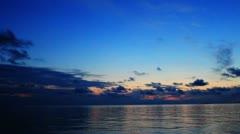 Tropical island sunrise Stock Footage