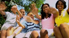 Tourism Promotion Enthusiastic Ethnic Family - stock footage