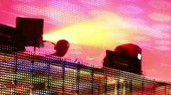 Dj playing music festival led screen Stock Footage