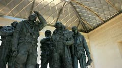 Bomber Command World War II memorial London Stock Footage