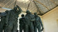 Stock Video Footage of Bomber Command World War II memorial London
