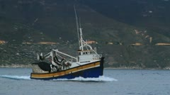 Boat hout bay fishing1 Stock Footage