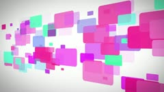 Colorful rectangle moving Stock Footage