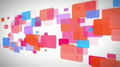 Stock Video Footage of Rectangle of colorful rectangle moving