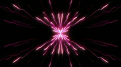 Small stripes of pink lights Stock Footage