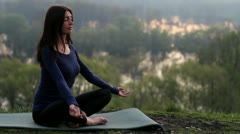 Girl, meditation - stock footage