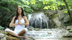Girl, meditation Stock Footage