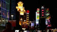 Nanjing Road in Shanghai, China Stock Footage