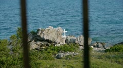 Memorial by the Sea Stock Footage