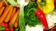 DOLLY: Fresh Vegetables Stock Footage