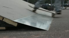 Skate ramp (close up) _1 Stock Footage