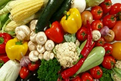 Mixed Vegetables Stock Footage