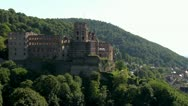 Stock Video Footage of old castel to heidelberg pan shot