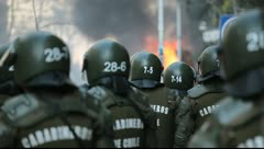 Riot Police Stock Footage