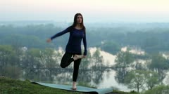 Yoga, nature Stock Footage