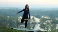 Stock Video Footage of yoga, nature