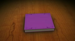 Violet book with children - stock footage