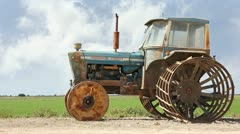Rice tractor 02 Stock Footage