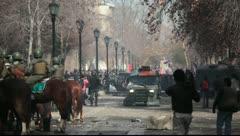 Protests in Chile - stock footage