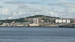 Dundee waterfront Scotland  July 21st 2012 Stock Footage
