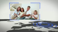Videos of family with Earth image courtesy of Nasa.org Stock Footage