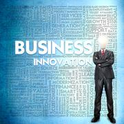 Word cloud for business concept Stock Illustration