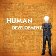 word cloud for business concept,human development - stock illustration