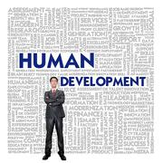 Word cloud for business concept,human development Stock Illustration