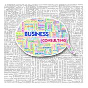 Stock Illustration of word cloud of business and creative text