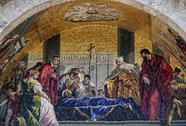 Fresco tile art St Marks Cathedral Venice Italy 9556.jpg Stock Photos