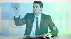 Video of business people at desk Stock Footage
