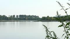 Jetski in Siberian river 1 Stock Footage