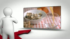 Video of breakfast alcohol and sport Stock Footage