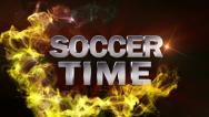 Soccer time text red OK Stock Footage