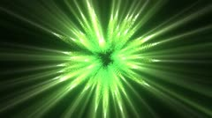 Green lines of fluorescent lights Stock Footage
