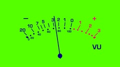 Volume meter on green screen Stock Footage