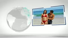 Couples videos with an Earth image courtesy of Nasa.org - stock footage
