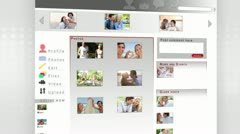 Social network of a couple Stock Footage