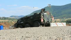 Military Vehicle backing up (HD)m Stock Footage